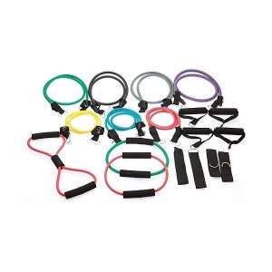 19 Piece Resistance Excercise Bands Set