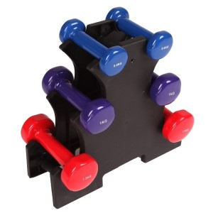 Dumbbell Set 6 Piece with Rack