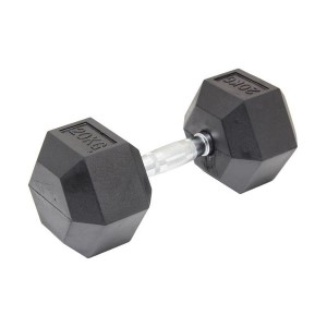 20kg Commercial Rubber Hex Dumbbell