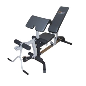 FID Flat Incline/Decline Multi-Use Workout Bench with Leg Extension